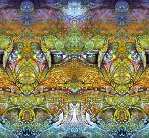 \bogomil Variations\ \otto Rapp\ \ Michael F Wolik\ Print featuring the digital art Bogomil Variation 12 by Otto Rapp