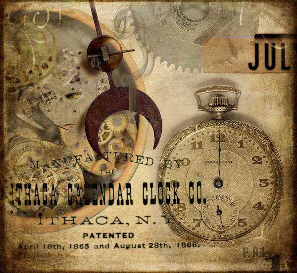 Clock Print featuring the photograph Clockworks by Fran Riley