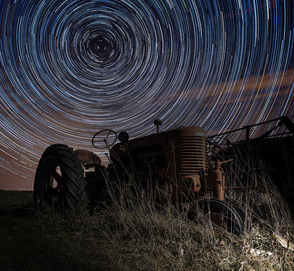 Tractor Print featuring the photograph Crop Circles by Aaron J Groen