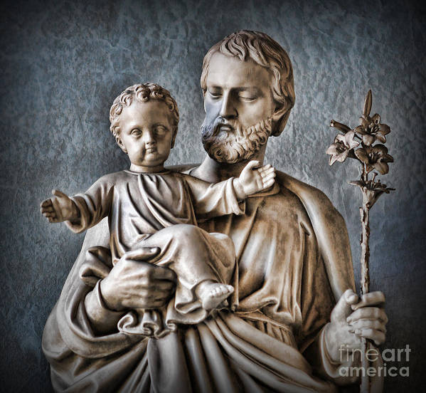 Saint Mary Print featuring the photograph Joseph Of Nazareth by Lee Dos Santos