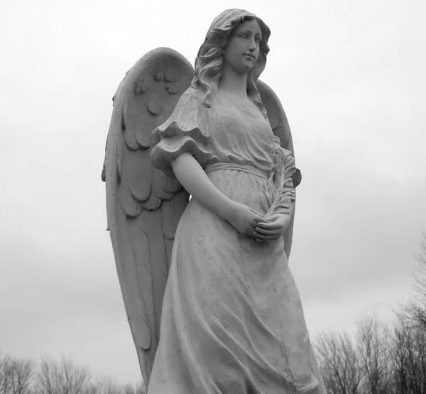 Angel Print featuring the photograph Sweet Seraphim by Rachel E Moniz