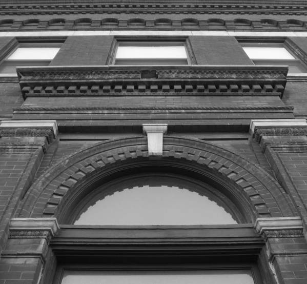 The Manley Popcorn Building Bw Print featuring the photograph The Manley Popcorn Building Bw by Elizabeth Sullivan