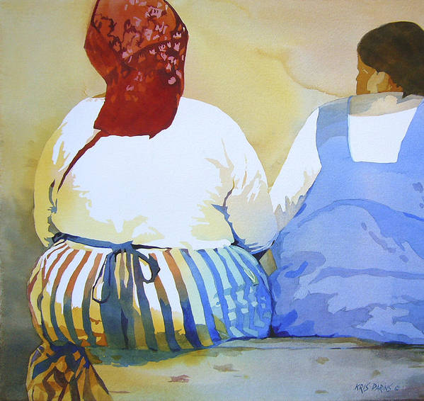 Kris Parins Print featuring the painting Muchachas by Kris Parins