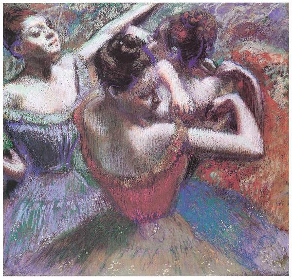 Dancers Print featuring the pastel Dancers by Edgar Degas