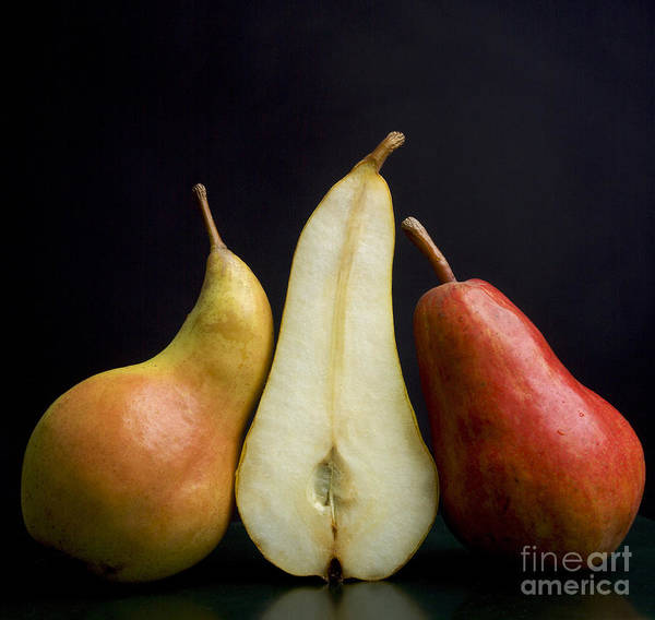 Studio Shot Print featuring the photograph Pears by Bernard Jaubert