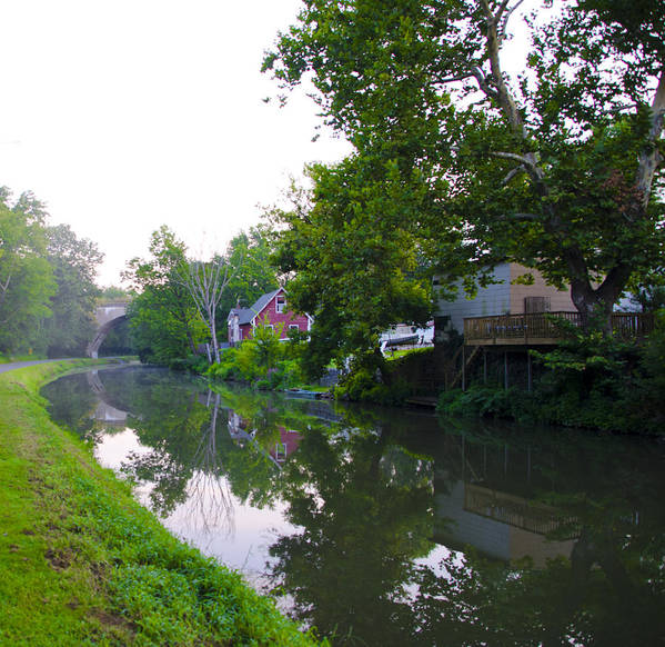 Schuylkill Print featuring the photograph Schuylkill Canal Mont Clare by Bill Cannon