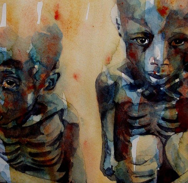 Sudan Print featuring the painting Endangered Spieces by Paul Lovering