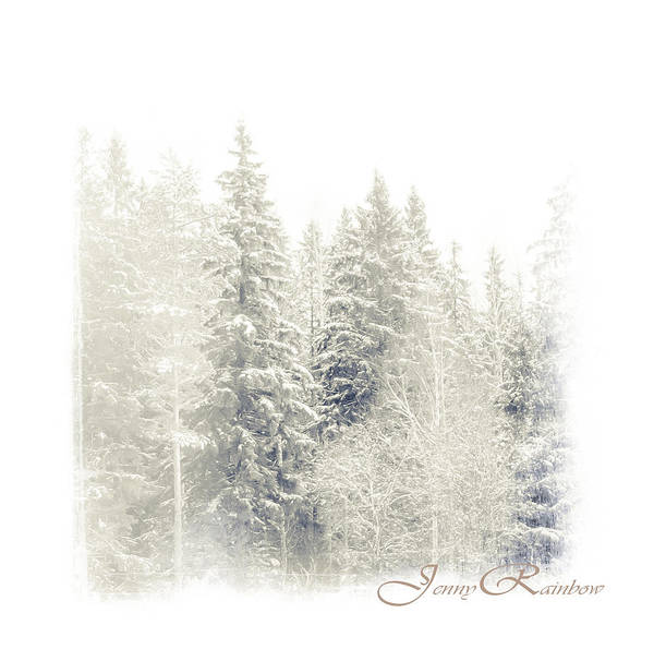 Winter Print featuring the photograph Winter Wonderland. Elegant Knickknacks From Jennyrainbow by Jenny Rainbow