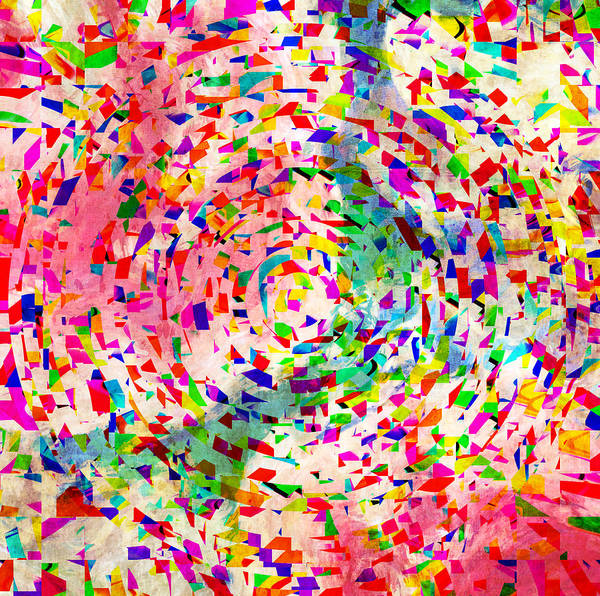 Print featuring the photograph Colorful Abstract Circles by Susan Leggett