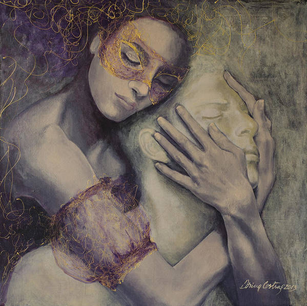 Fantasy Print featuring the painting Delusion by Dorina Costras