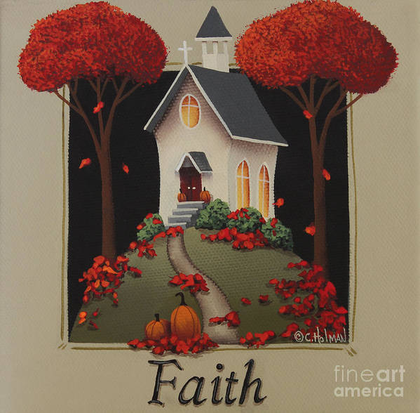 Art Print featuring the painting Faith Country Church by Catherine Holman