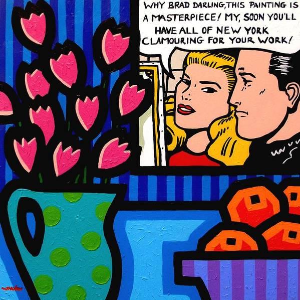 Pop Art Print featuring the painting Homage To Lichtenstein by John Nolan
