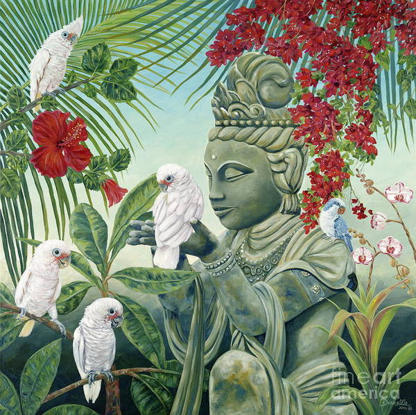 Buddah Print featuring the painting In The Company Of Angels by Danielle Perry