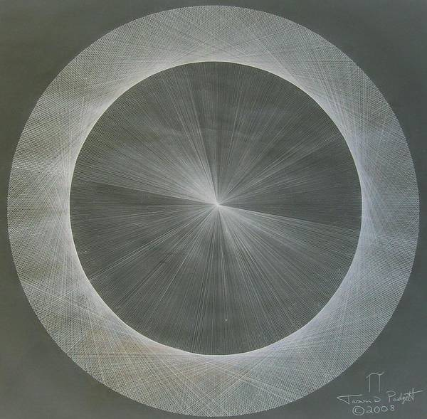 Light Print featuring the drawing Light Is Pi The Shape Of Pi by Jason Padgett