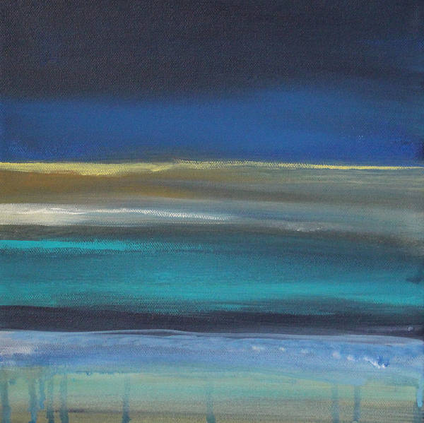 Abstract Painting Print featuring the painting Ocean Blue 2 by Linda Woods