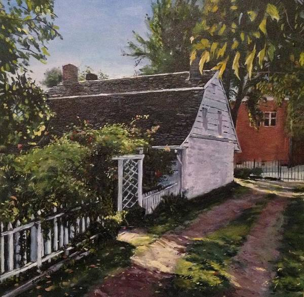 Onderdonk House Print featuring the painting Onderdonk House Garden by Victor SOTO