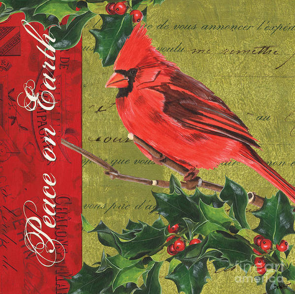 Christmas Print featuring the painting Peace On Earth 2 by Debbie DeWitt