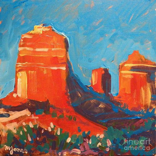 Sedona Print featuring the painting Red Rocks At Sedona by Micheal Jones