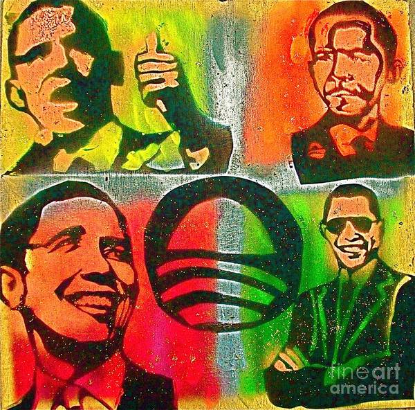 Barack Obama Print featuring the painting 4 Barack by Tony B Conscious