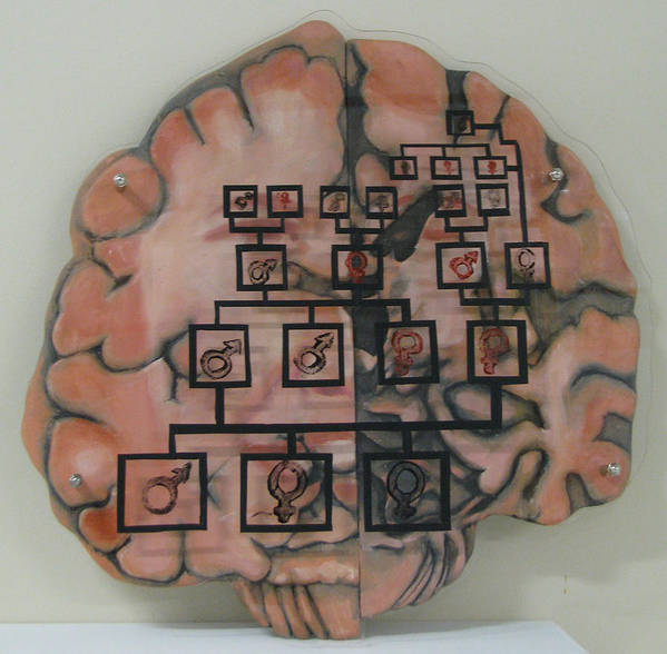 Brain Print featuring the painting Your Brain On Alzheimer's by Art Nomad Sandra Hansen