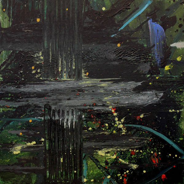 Space Print featuring the painting Dark Space by Ethel Vrana