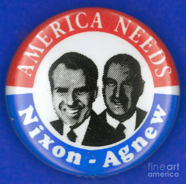 1972 Print featuring the photograph Presidential Campaign:1972 by Granger