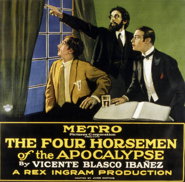 1920s Movies Print featuring the photograph The Four Horsemen Of The Apocalypse by Everett