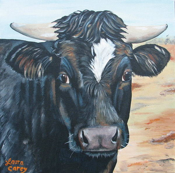 Angus Print featuring the painting Baby's Baby by Laura Carey
