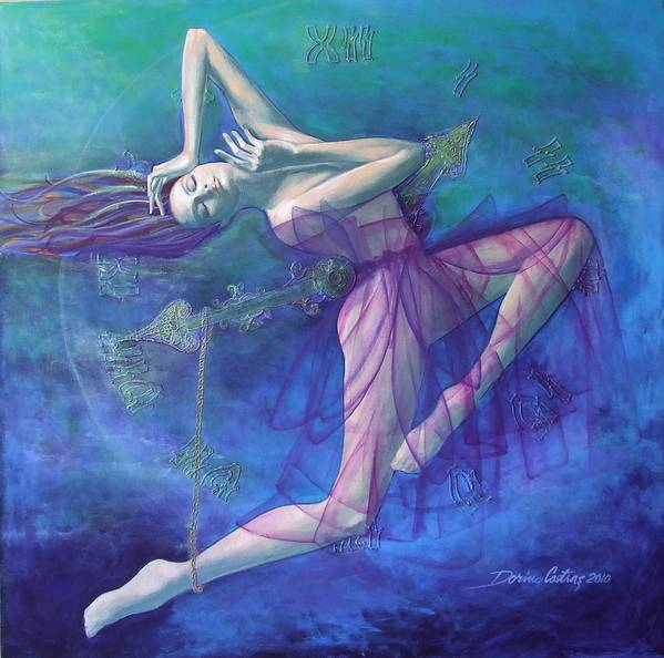 Art Print featuring the painting Back In Time by Dorina Costras