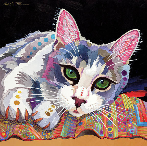 Animal Art Print featuring the painting Bella by Bob Coonts