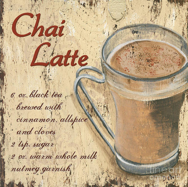 Coffee Print featuring the painting Chai Latte by Debbie DeWitt