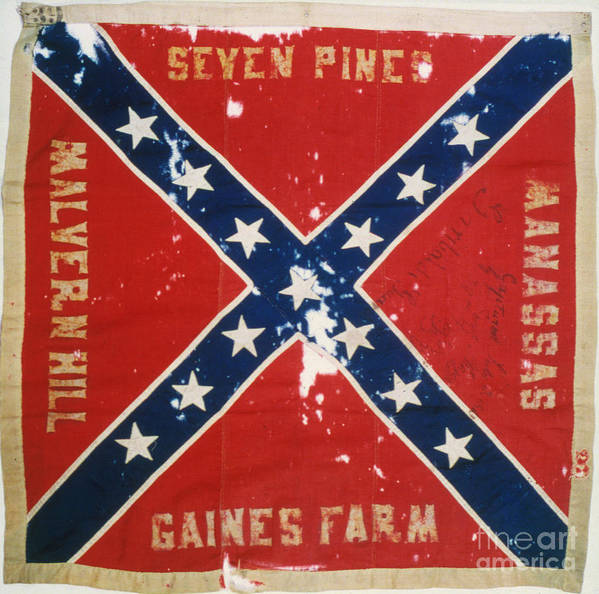 1863 Print featuring the photograph Confederate Flag by Granger