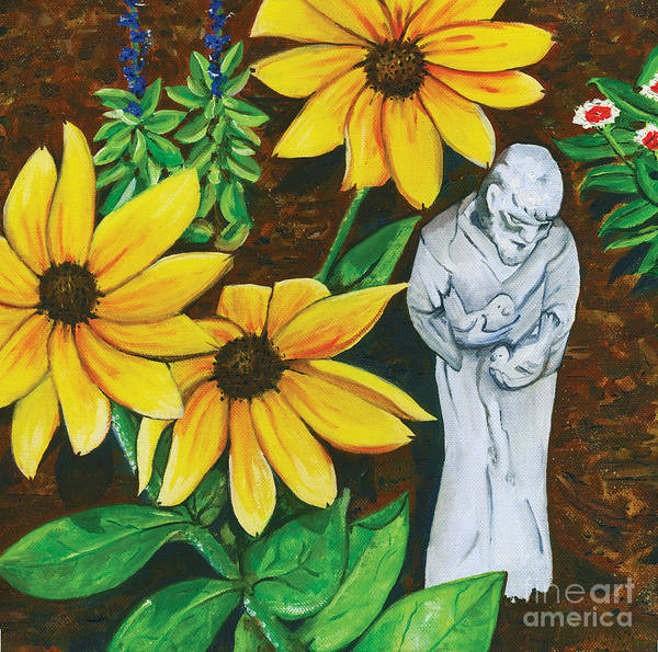 St. Francis Print featuring the painting Frank And Susan by Laura Brightwood