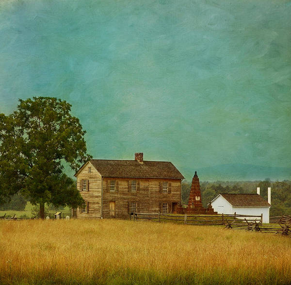 Henry House Print featuring the photograph Henry House At Manassas Battlefield Park by Kim Hojnacki
