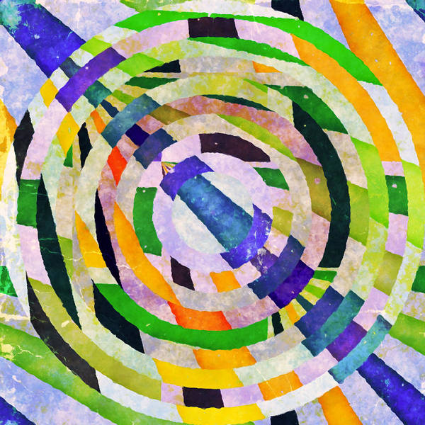 Abstract Print featuring the photograph Abstract Circles by Susan Leggett