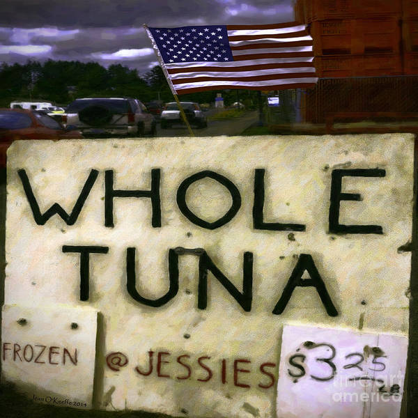 Tuna Print featuring the photograph American Whole Tuna by Jean OKeeffe Macro Abundance Art