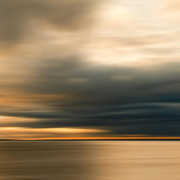 Impressionist Print featuring the photograph Approaching Evening Storm by Bob Retnauer