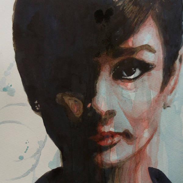 Audrey Hepburn Print featuring the painting Audrey Hepburn by Paul Lovering