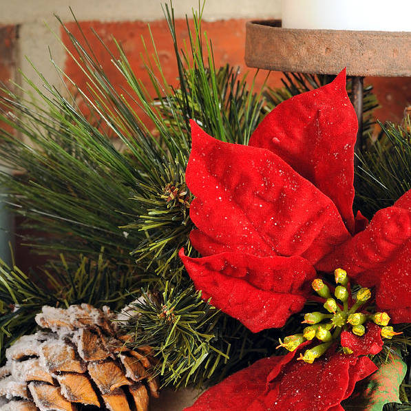 Christmas Print featuring the photograph Christmas Decor Close by Kenneth Sponsler