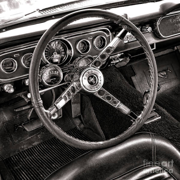 Ford Print featuring the photograph Classic Mustang by Olivier Le Queinec