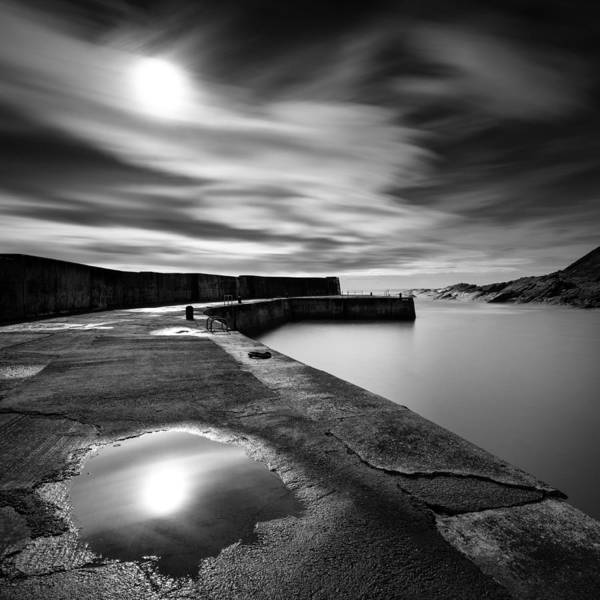 Collieston Breakwater Print featuring the photograph Collieston Breakwater by Dave Bowman
