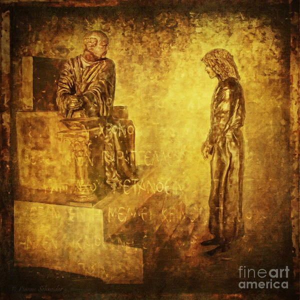 Jesus Print featuring the digital art Condemned Via Dolorosa1 by Lianne Schneider