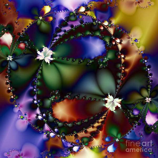 Fractal Print featuring the digital art Dance Of The Gypsy Moths On A Moon Lit Night 20130510 Square by Wingsdomain Art and Photography