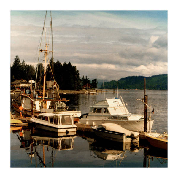 Old Photos Of Pacemaker Yacht Moored At The Dock Of Alderbrook Inn Print featuring the photograph Domino At Alderbrook On Hood Canal by Jack Pumphrey
