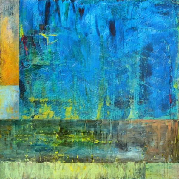 Blue Print featuring the painting Essence Of Blue by Michelle Calkins