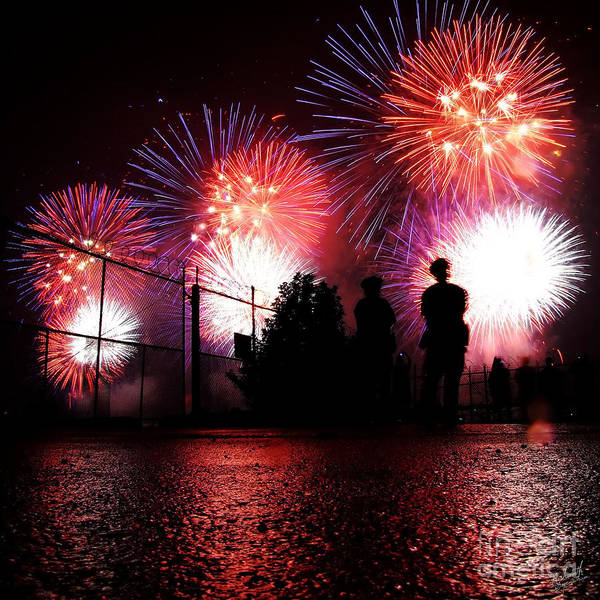 July 4th Fireworks Print featuring the photograph Fireworks by Nishanth Gopinathan