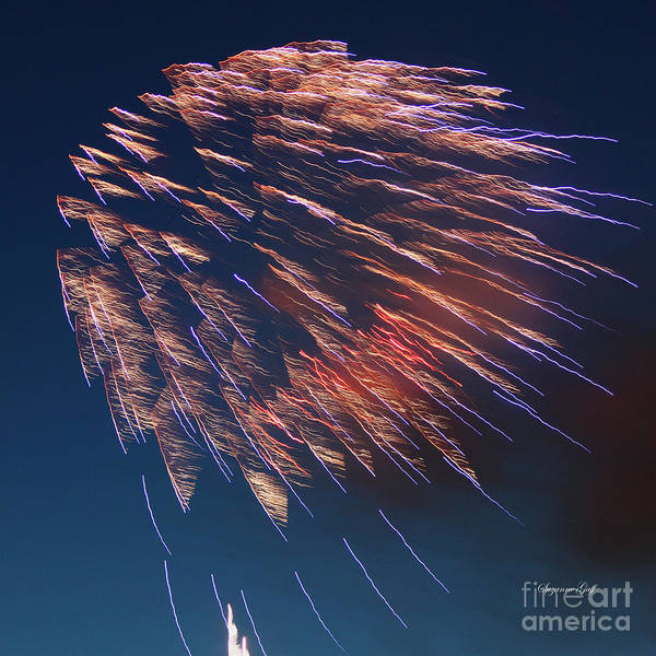 July Print featuring the photograph Fireworks Series I by Suzanne Gaff