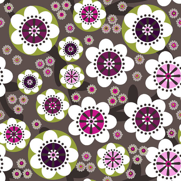 Posters Print featuring the digital art Floral Grunge by Lisa Noneman