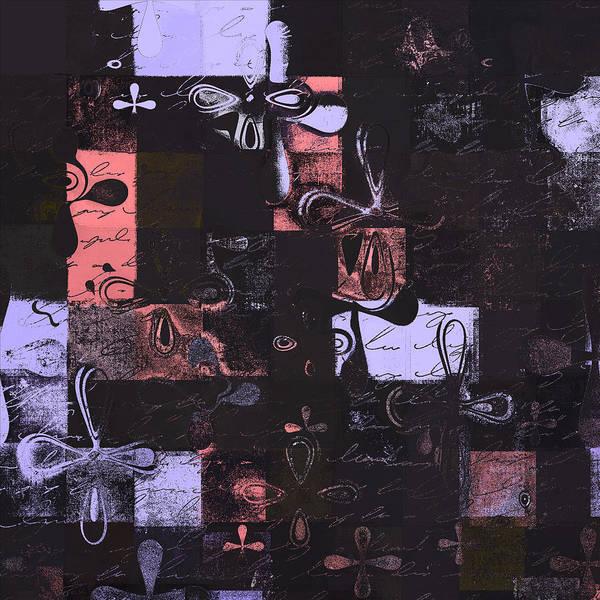 Abbstract Floral Digital Art Digital Art Digital Art Print featuring the digital art Florus Pokus 01e by Variance Collections
