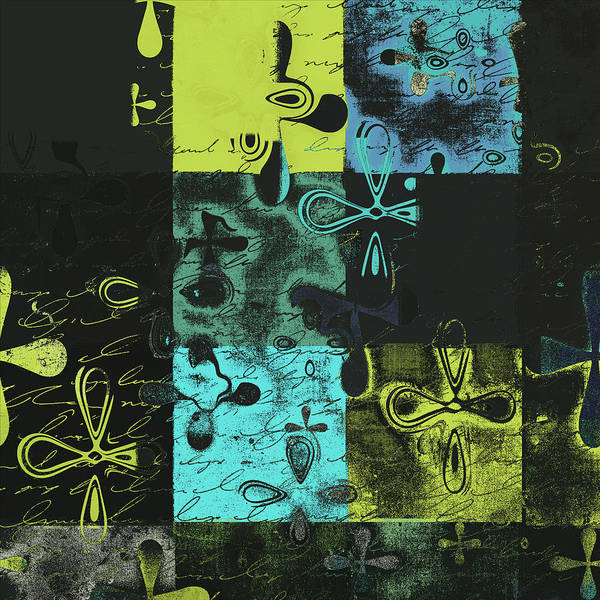 Abbstract Floral Digital Art Print featuring the digital art Florus Pokus A02 by Variance Collections